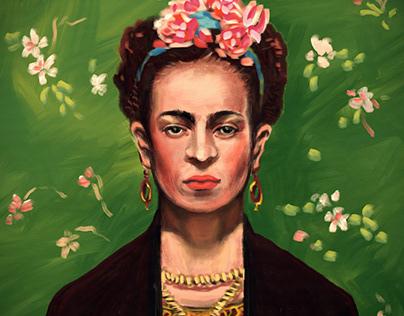 Digital Painting - Frida Kahlo