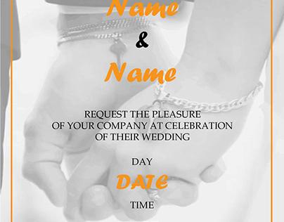 Wedding Invitation E card Template