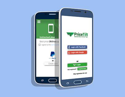 PriceTilt app & startup design
