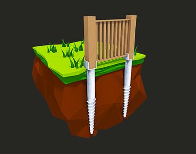 Vrutex | Ground Garden Screw Flyer