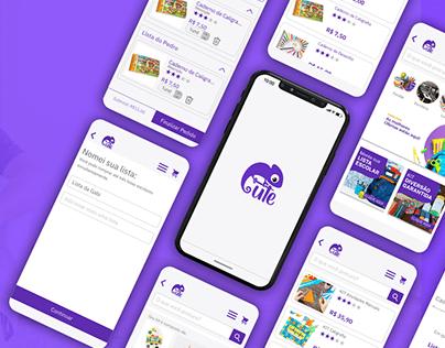 UX/UI App Papelaria Cute