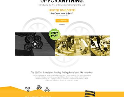 Upcart Homepage Concept