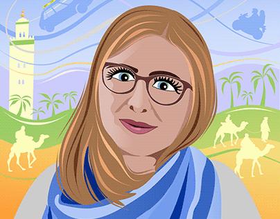 Polish woman in Morocco trip