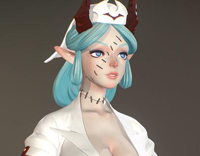 Isabelle 3D bust