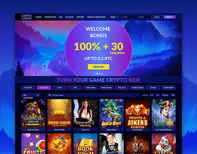 Casino landing page + adaptive mobile