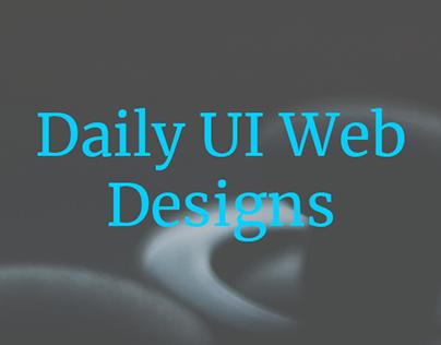 Daily UI Web Designs