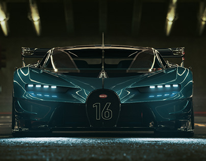 DTLA Bugatti Vision GT Full CGI Night version