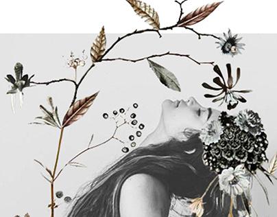 Digital Muses. Digital collage.