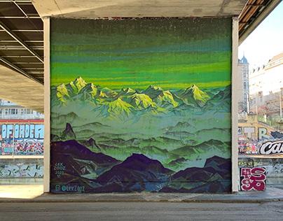 """Mural """"Alps""""."""
