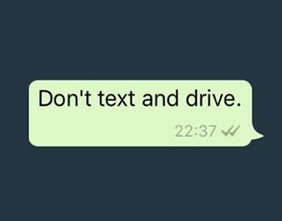 Don't text and drive | Print