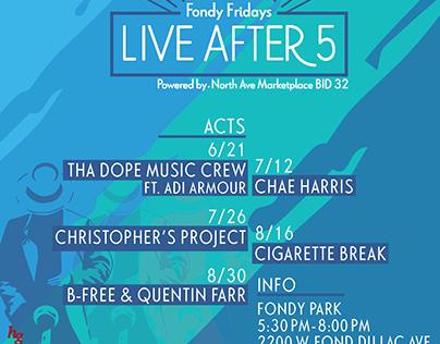 Fondy Fridays Music Festival 19' Poster