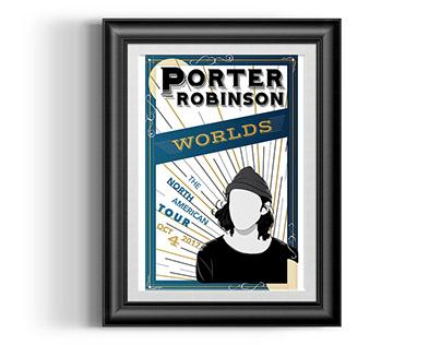 Porter Robinson's WORLDS Victorian Poster
