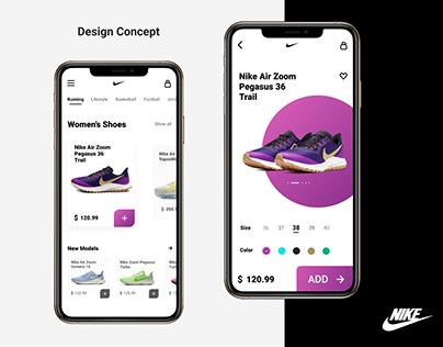 Nike Mobile App Design Concept