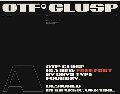 OTF® GLUSP /FREE FONT/