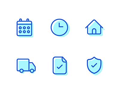 An icon set for a healthcare portal
