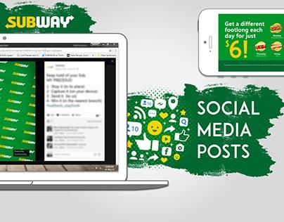 subway - social media posts