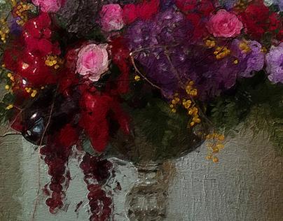 Flower Arrangements in an Alcove
