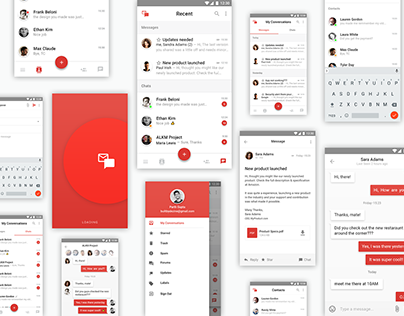 Email+Chat app Interface