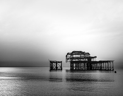BRIGHTON BEACH – The remains of the West Pier.