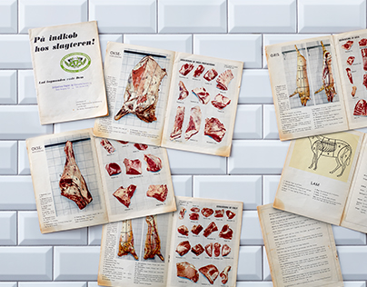 Butcher food and meat