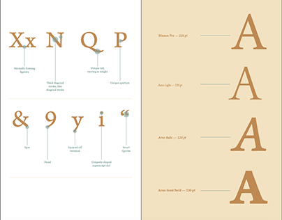 Arno Typeface Cover and Spread