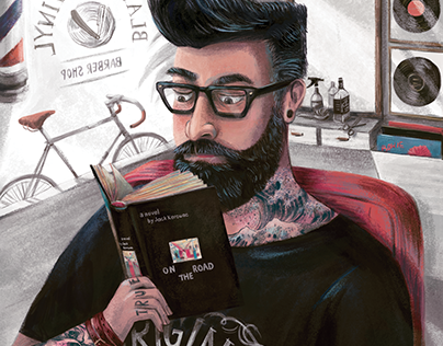 The Hipster - American illustration AI38