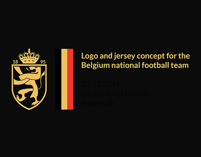 Logo and jersey concept for the Belgium's football team