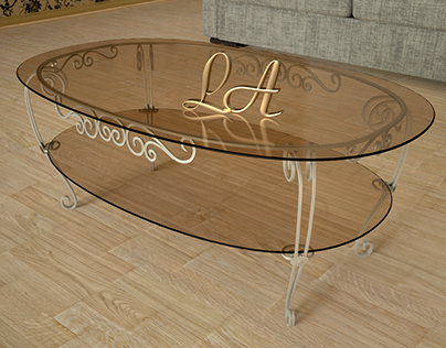 coffee table forged