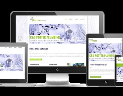 C&D Potter Plumbing | Website Design