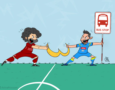 Caricature Liverpool vs Napoli