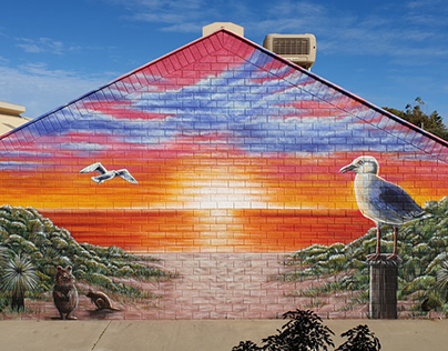 Kinross Primary School Sunset Mural