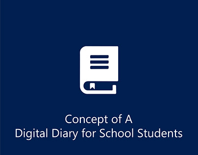 Digital Diary Concept for School Students