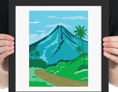 Mayon Volcano Albay Philippines WPA Poster