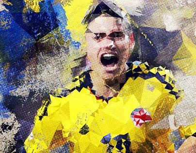 Footballers - Illustrations
