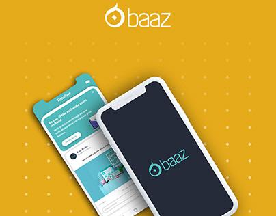 Baaz Social Media App - UI Design