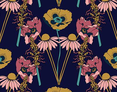 Wild Flower Surface Design