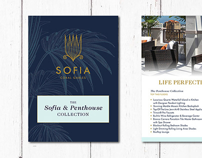 Sofia Coral Gables Magazine & Pamphlet