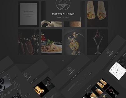 Chef's Cuisine - Minimalist Restaurant Reservation