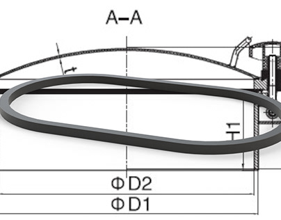 Ship Manhole Gasket Design and Rendering