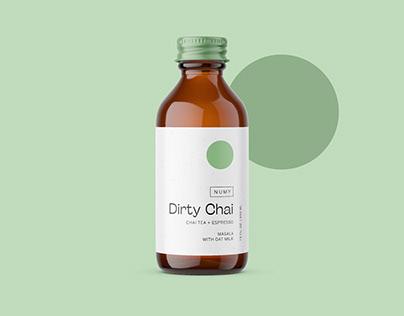 NUMY Dirty Chai Branding & Label Design
