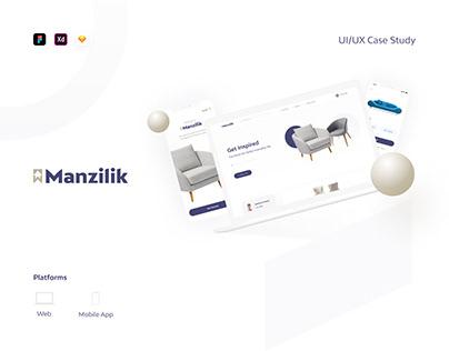 Manzilik Home Furtniture UX/UI Case Study (web & Mob)