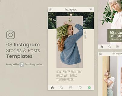 08 Instagram Stories & Posts Templates