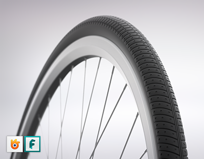 Front wheel for City Bike (3D Model)