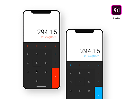 Calculator UI - Freebie for Adobe XD