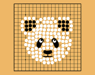 Go game with panda
