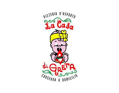 Brand identity per Pizzeria La casa di Greta