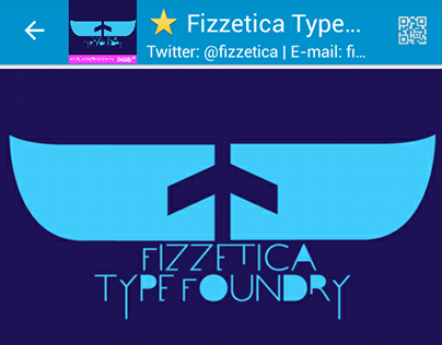 Our BBM Channel 'C001256D7' | Fizzetica Type Foundry
