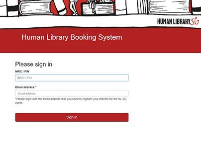 Human Library SG Booking System