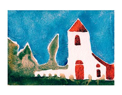 Watercolor Series IV Texas