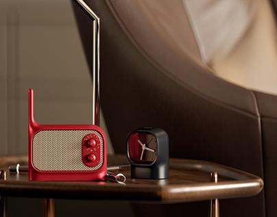 Lexon - Mezzo Radio and Clock